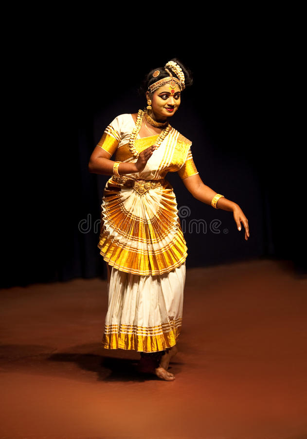 Mohiniyattam dance stock images