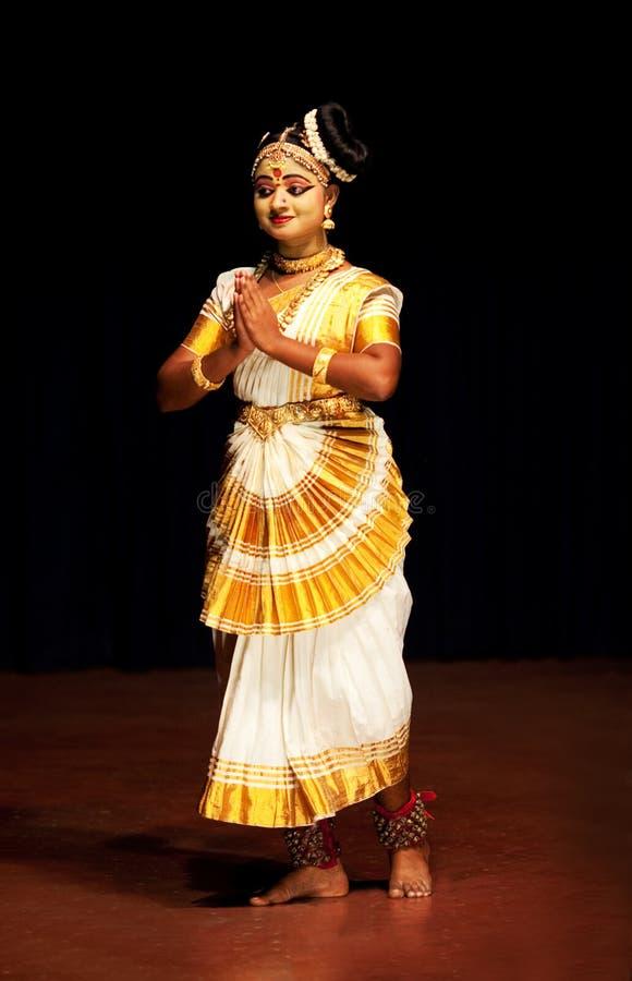 Free Mohinyattam (Dance Of The Enchantress) Performer Royalty Free Stock Images - 16458239
