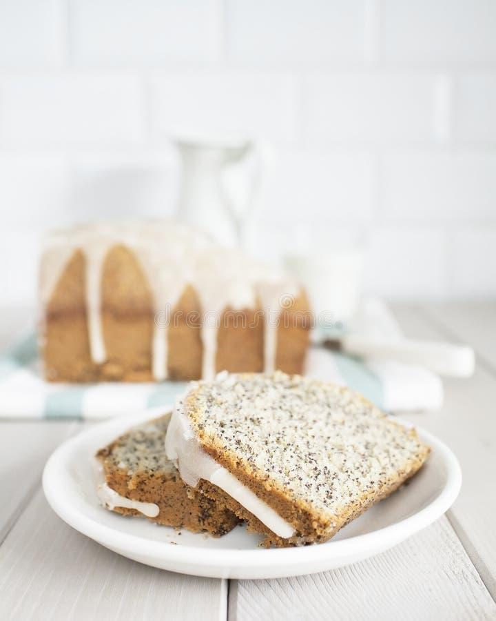Mohnblumenkuchen 6 stockfoto