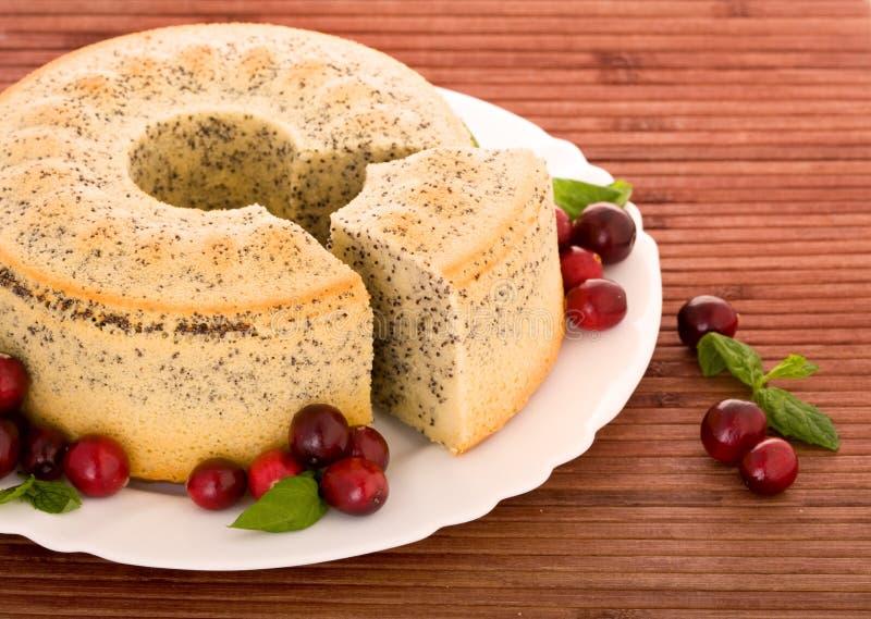 Mohnkuchen lizenzfreie stockbilder