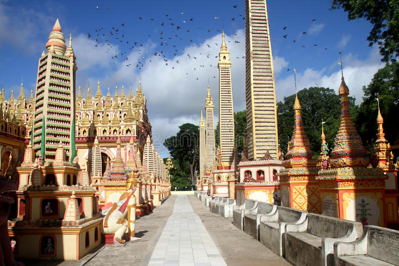 Mohnyin Thambuddhei Paya stockfoto