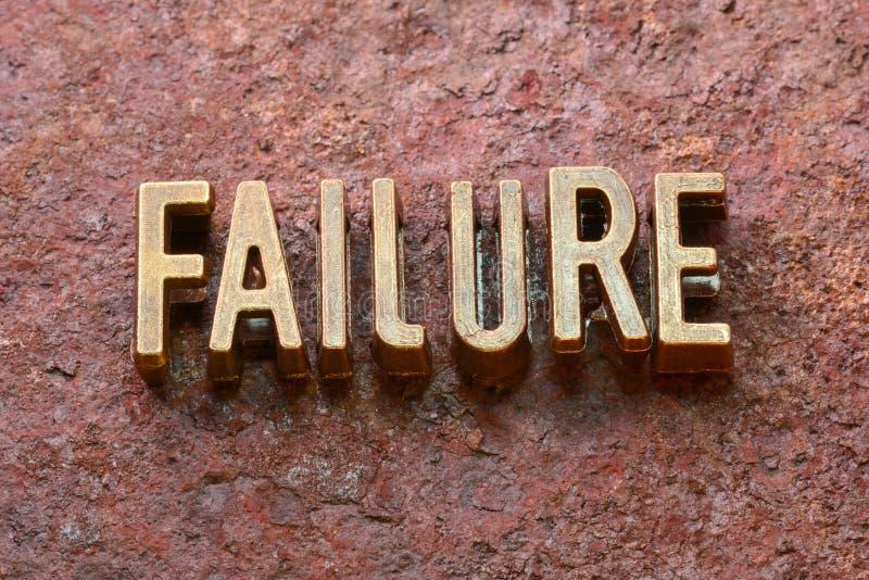 Moho de la palabra del fracaso imágenes de archivo libres de regalías