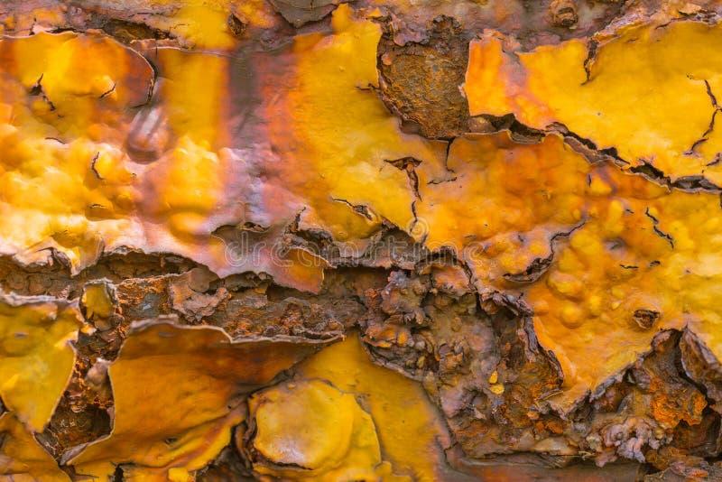 Moho del hierro del metal con el fondo de la pintura de la peladura imágenes de archivo libres de regalías