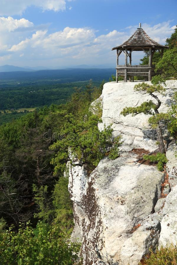 Mohonk Cliff Gazebo royalty free stock image