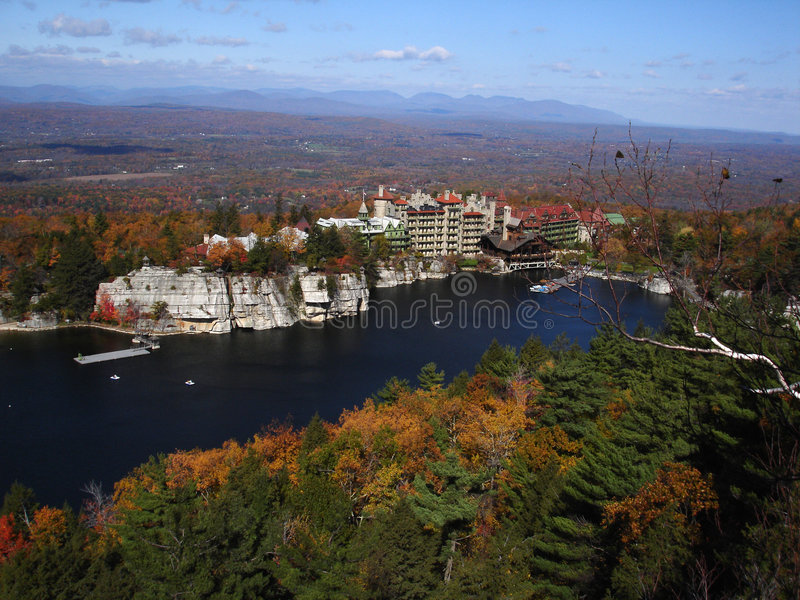 Mohonk Mountain House, NY. Vie Royalty Free Stock Image