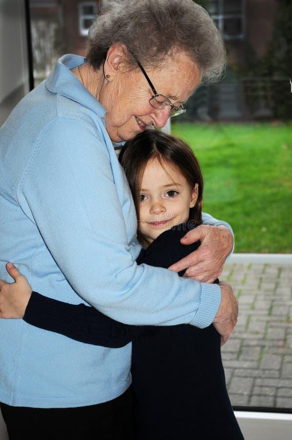 Moi et grand-maman images libres de droits