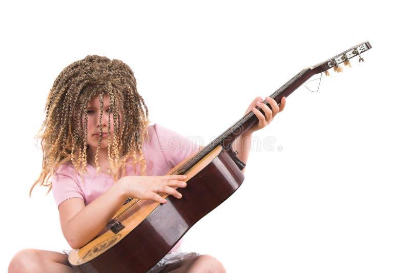 Moi et ma guitare photo libre de droits