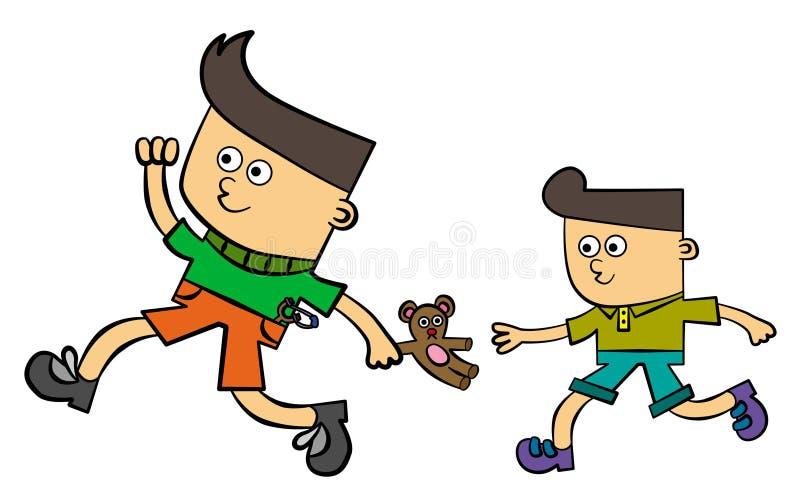 Moi et mon frère illustration de vecteur