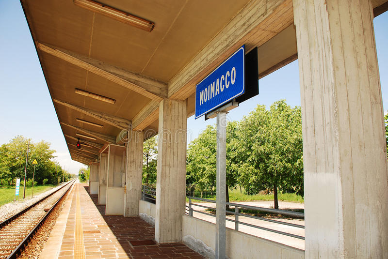 Moimacco Train Station Royalty Free Stock Images