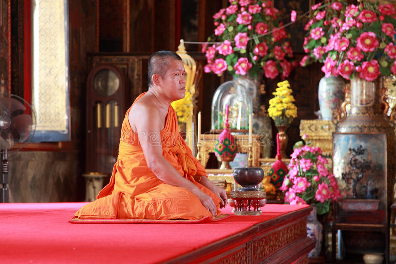 Moine bouddhiste photographie stock