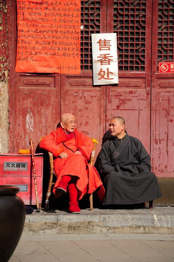 Moine bouddhiste plus âgé photographie stock libre de droits