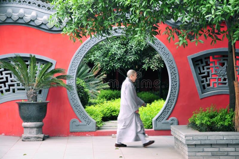 Moine chinois China photos libres de droits
