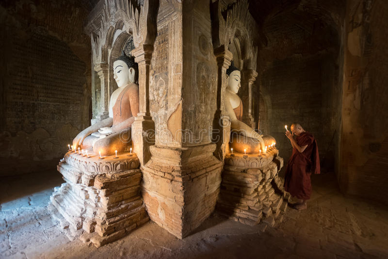 Moine de Myanmar photographie stock