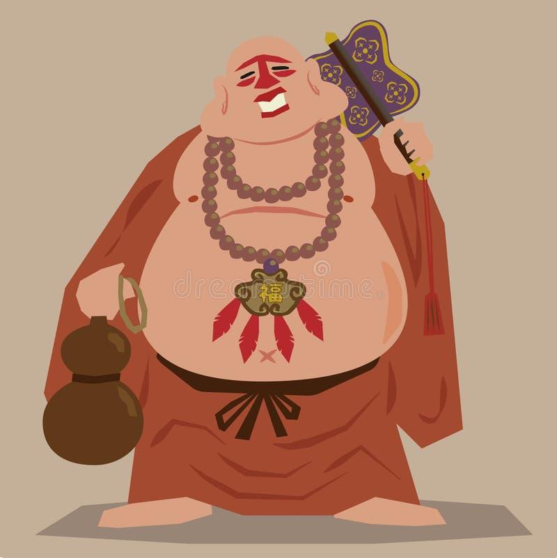 Moine de zen de Buddism illustration libre de droits