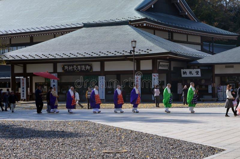 MOINES BOUDDHISTES JAPONAIS photo stock