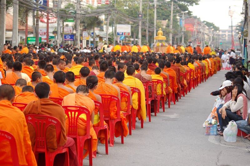 Moines thaïs photos stock