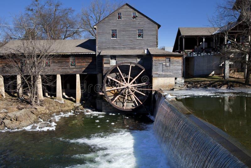 Moinho de água em Pigeon Forge, Tennessee imagens de stock royalty free