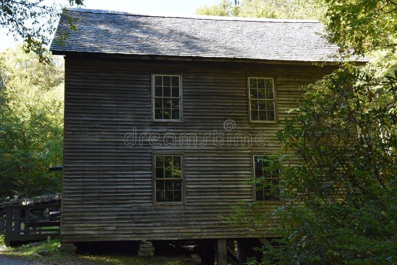 Moinho de Mingus no parque nacional de Great Smoky Mountains imagem de stock