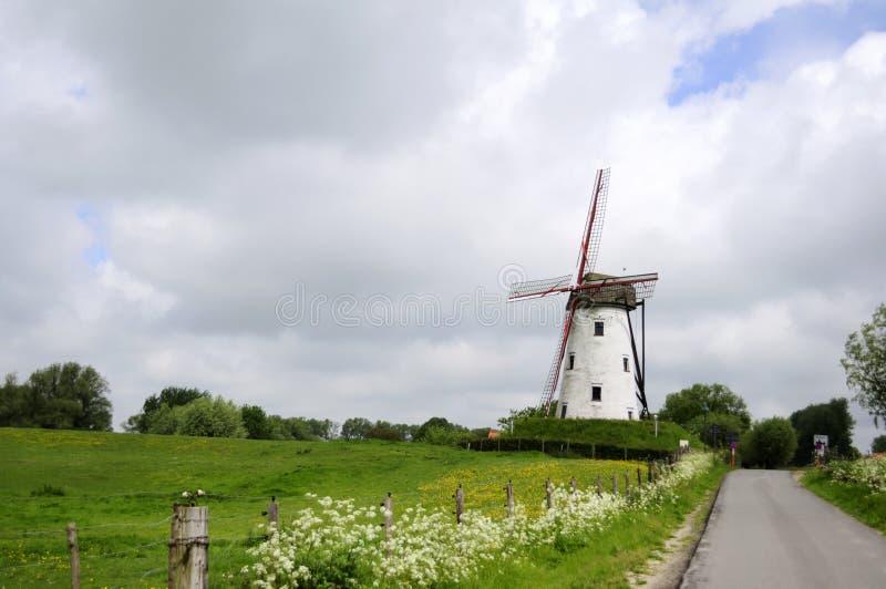 Moinho de vento, Bélgica imagens de stock