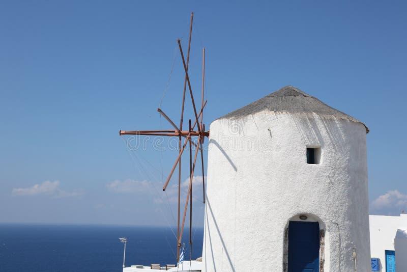 Moinho de vento grego foto de stock royalty free