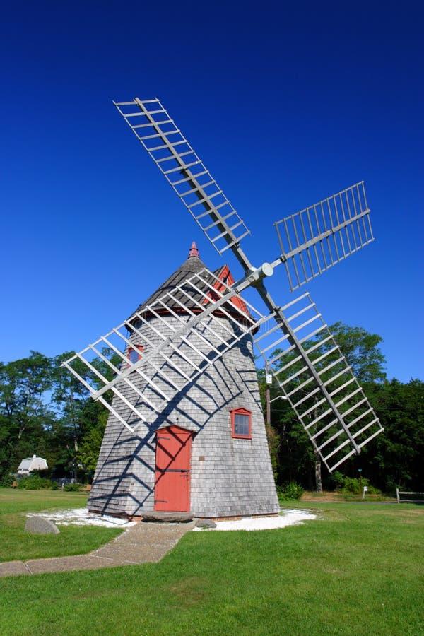 Moinho de vento Cape Cod de Eastham, Massachusetts, EUA fotos de stock