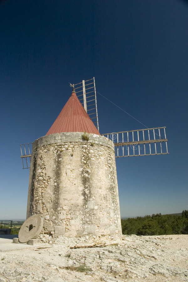 Moinho de vento de Daudet fotos de stock