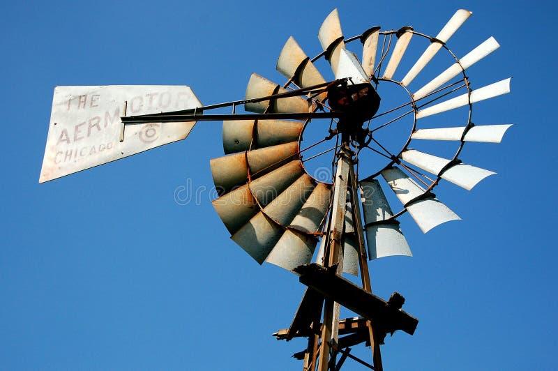 Moinho de vento de Iowa imagens de stock