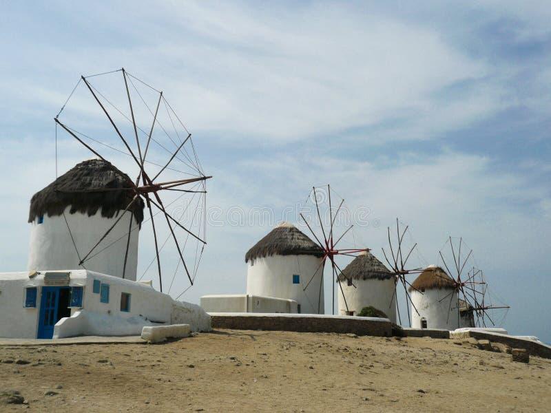 Moinho de vento de Mikonos imagens de stock royalty free