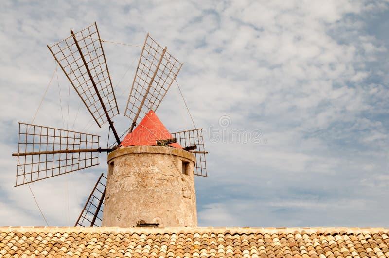 Moinho de vento de sal foto de stock royalty free