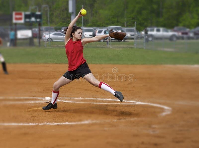 Moinho de vento do softball imagem de stock royalty free
