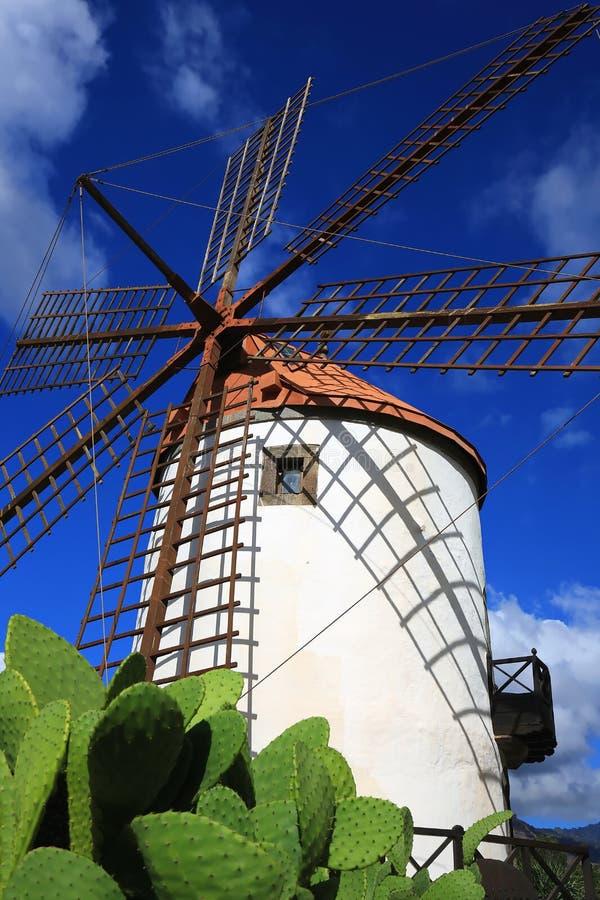 Moinho de vento em Gran Canaria imagens de stock