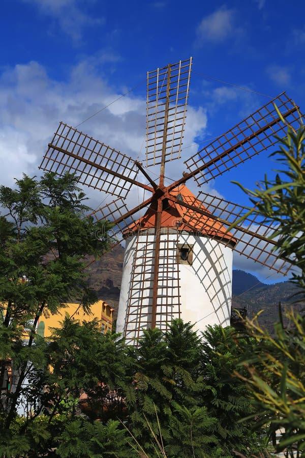 Moinho de vento em Gran Canaria foto de stock royalty free