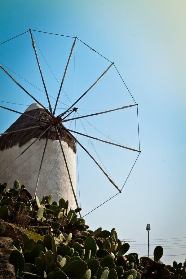 Moinho de vento em Greece, retrato fotografia de stock royalty free
