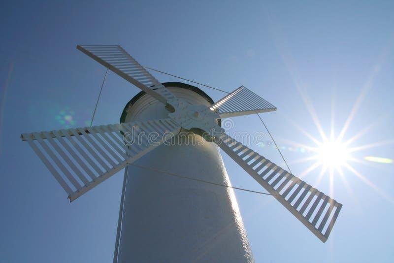 Moinho de vento em Swinoujscie imagens de stock