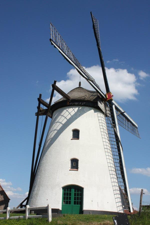 Moinho de vento Herzele Bélgica imagens de stock