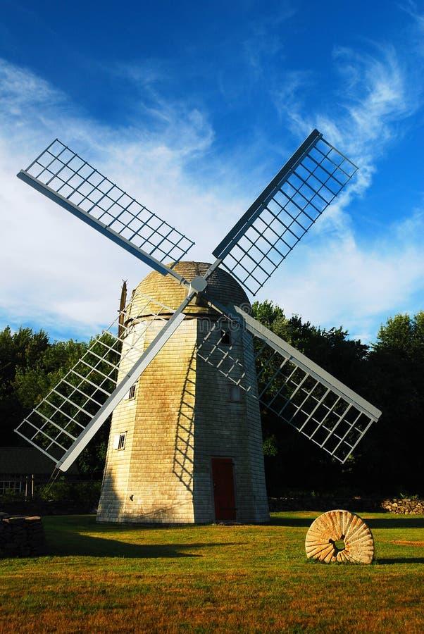 Moinho de vento histórico Jamestown Rhode - ilha foto de stock