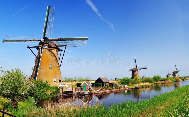 Moinho de vento Holland foto de stock royalty free
