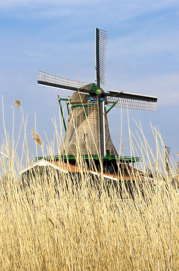 Moinho de vento Holland fotos de stock royalty free