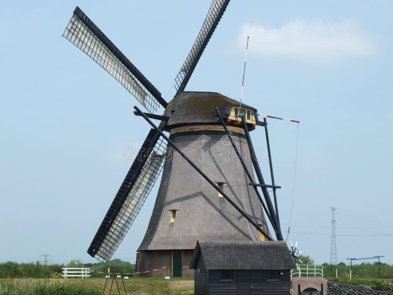 Moinho de vento Kinderdijk imagens de stock