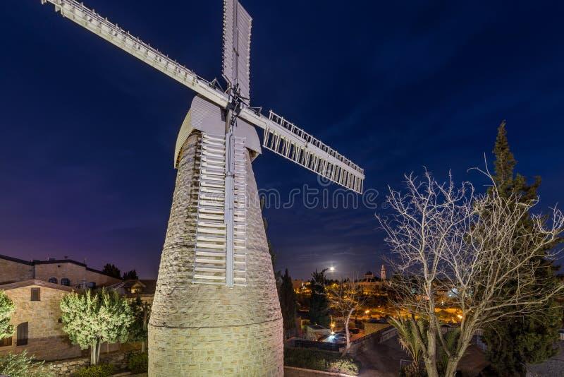 Moinho de vento de Montefiore em Jerusalem foto de stock royalty free
