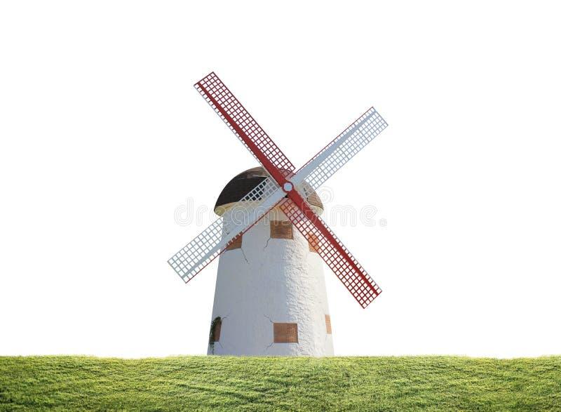 Moinho de vento na planta de arroz ilustração stock