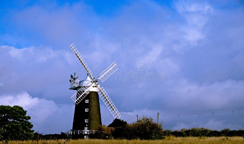 Moinho de vento Norfolk Reino Unido imagens de stock