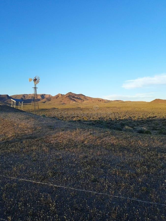 Moinho de vento perto da área 51 fotografia de stock royalty free