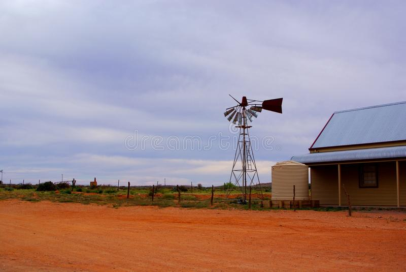 Moinho de vento quebrado, Silverton fotografia de stock royalty free
