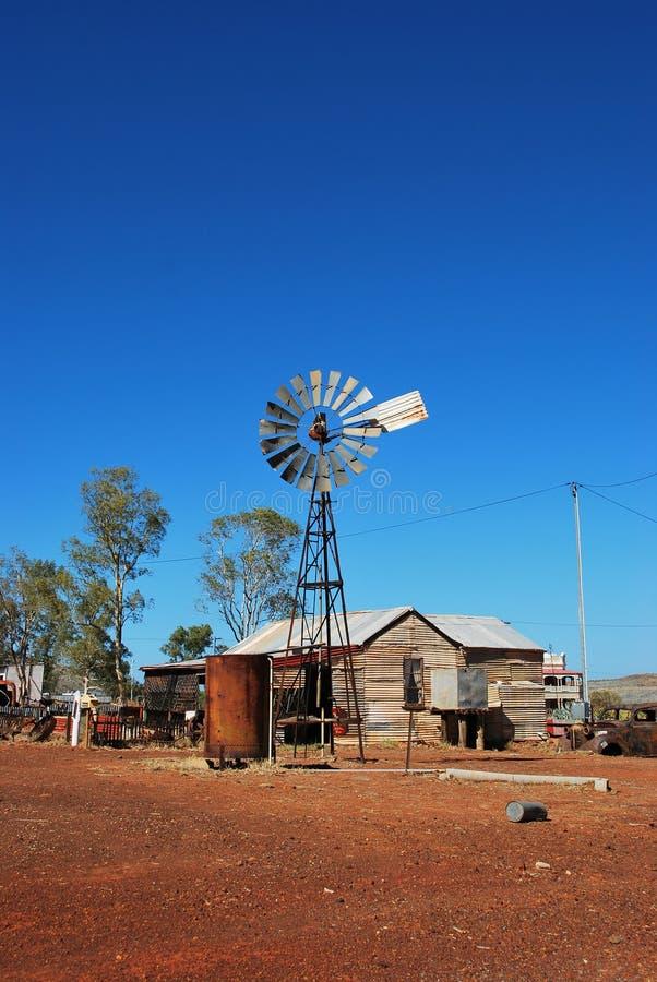 Moinho de vento velho de Gwalia da cidade da mineração imagem de stock royalty free
