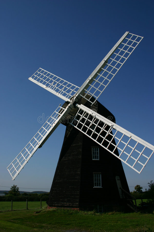 Moinho de vento verde Lacey fotos de stock