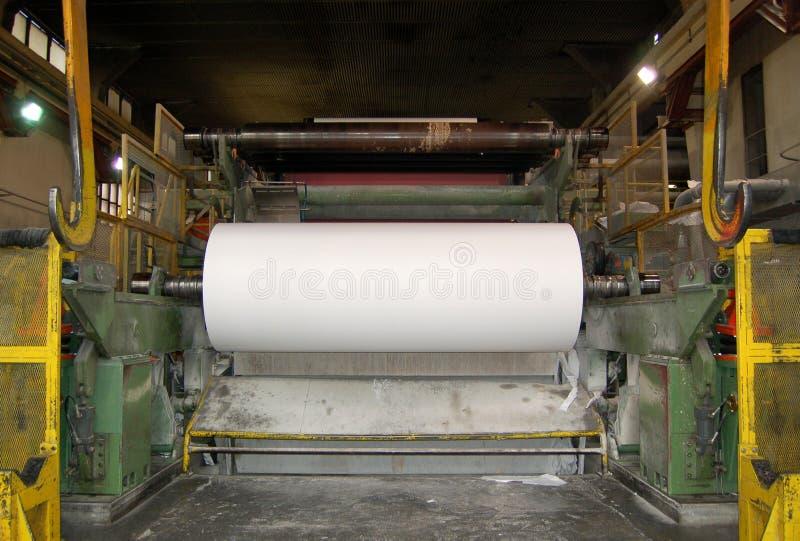 Moinho do papel e de polpa fotografia de stock