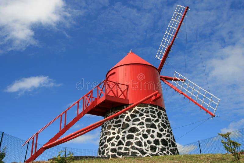 Moinho em Açores imagens de stock royalty free