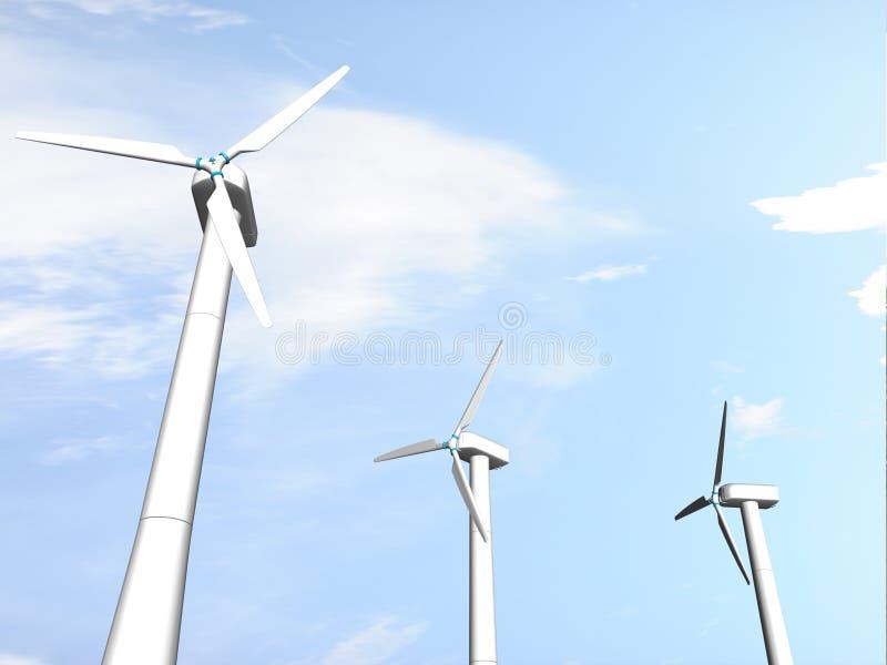Moinhos de vento ilustração do vetor