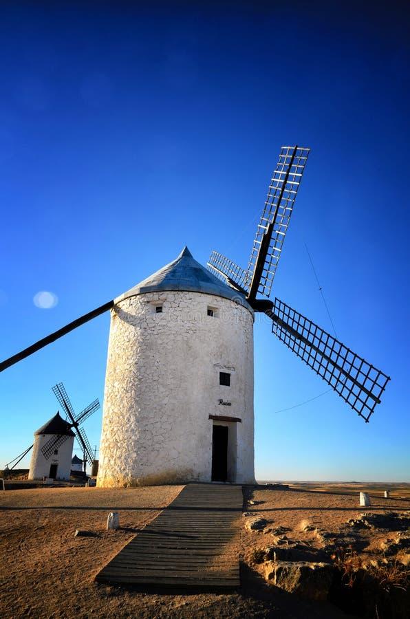 Moinhos de vento Consuegra de Don Quixote, Toledo Spain foto de stock royalty free